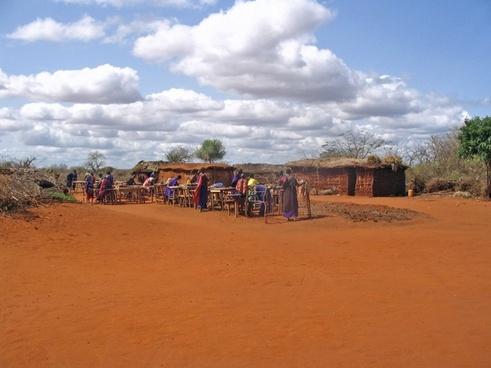 maasai village kenya villagers