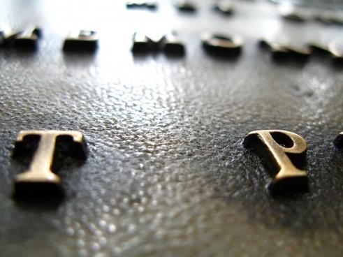 macro bronze plaque marker