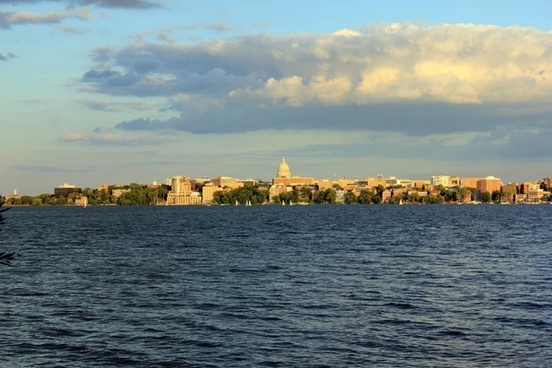 madison across the lake in madison wisconsin