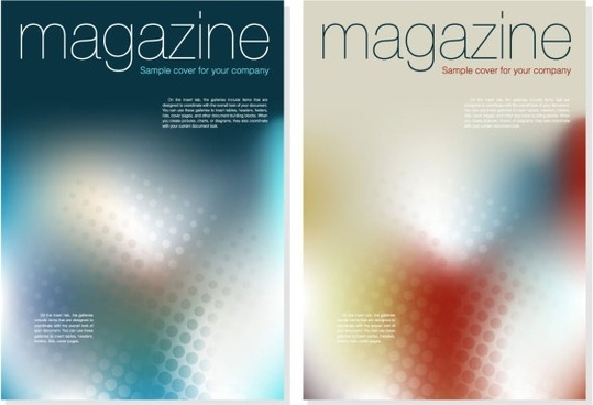 magazine cover background vector