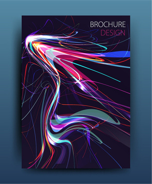 magazine or brochure colored abstract cover vector
