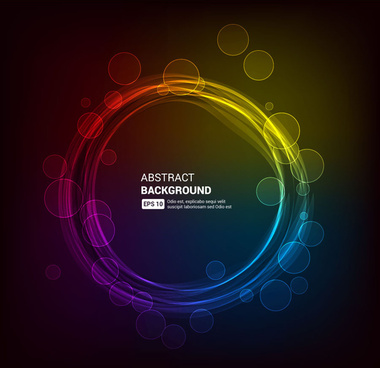 magic circle abstract background