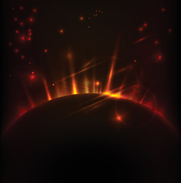 magic universe space vector background