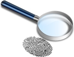 Magnifier and finger print
