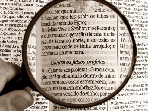 magnifying glass bible bibliology