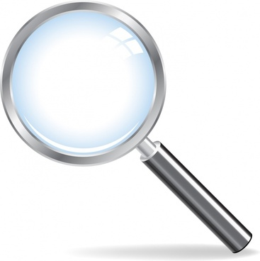 magnify glass icon modern shiny closeup design