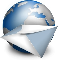 Mail globe earth