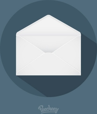 mail long shadow icon