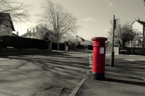 mailbox red england