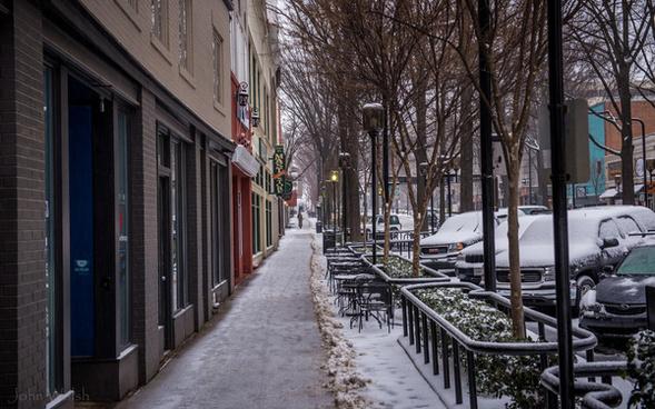 main street snow