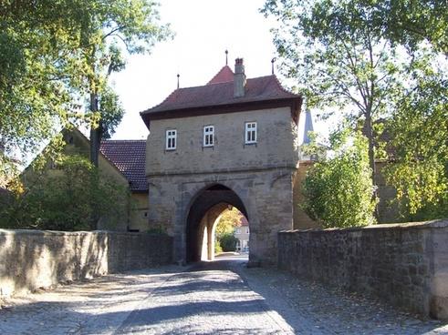 mainbernheimer gate iphofen franconian wine country