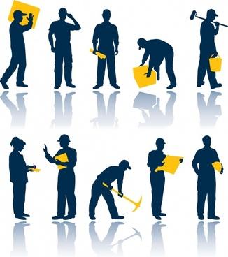 maintenance workers vector