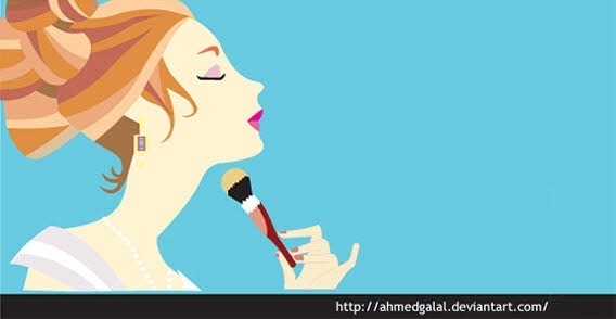 Make-up girl vector