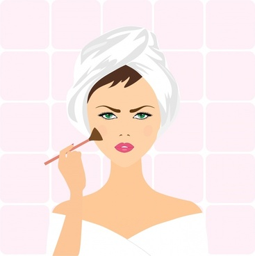 makeup woman realistic vector illustration
