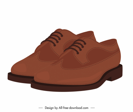 male fashion shoe icon 3d sketch elegant leather