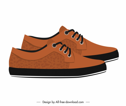 male fashion shoe icon elegant brown leather decor