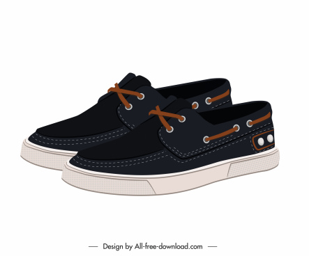 male fashion shoes icon modern young 3d design