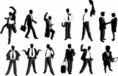 male managers 2 design elements vector