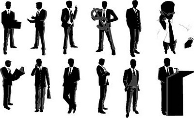 male managers design elements vector