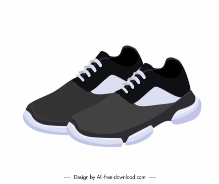 male shoes icon elegant grey white decor