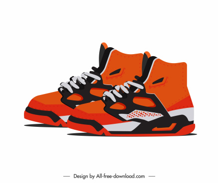 male sneakers template modern colorful decor