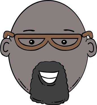 Man Face World Label clip art