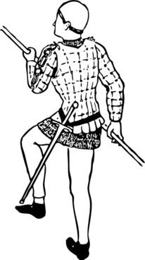 Man Figure Wearing A Jack clip art