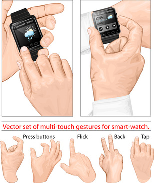 man hand gestures vector design