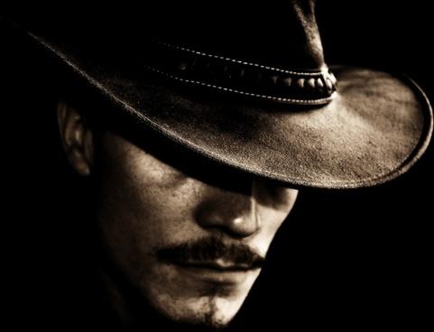 man hat portrait
