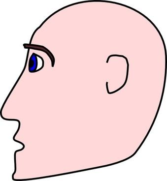 Man Head Side Bald clip art
