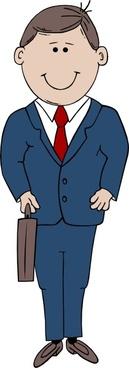 Man In Suit clip art
