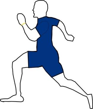 Man Jogging Exercise clip art