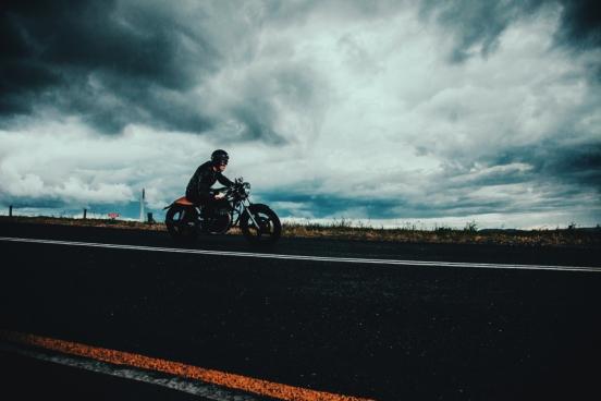 man on motorbike