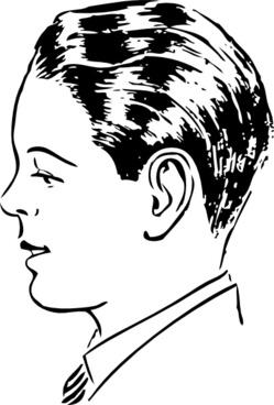 Man Side View clip art
