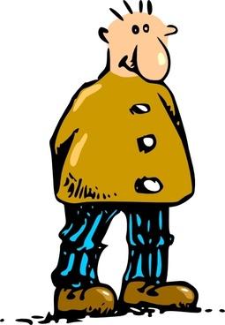 Man Standing Cartoon clip art
