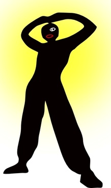 Man Standing Silhouette clip art