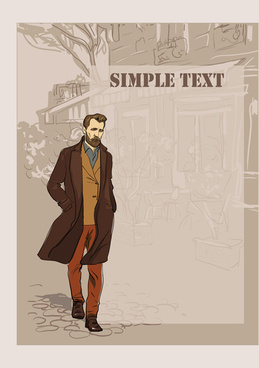 man with fashion background vector