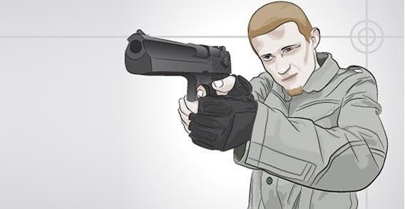 Man with gun vector