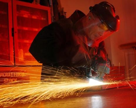 man working metal worker