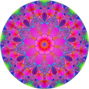 mandala fractal abstract