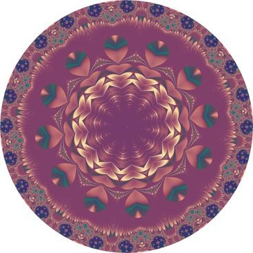 mandala fractal leaf