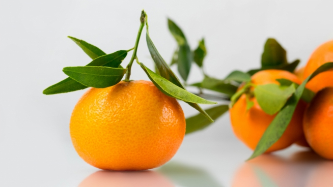 closeup of fresh oranges