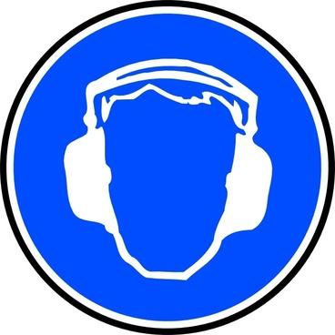 Mandatory Ear Protection clip art