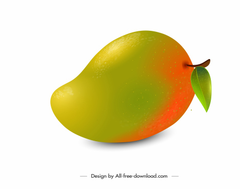 mango fruit icon shiny colored design