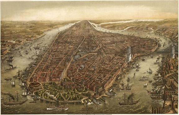 manhattan new york city 1870