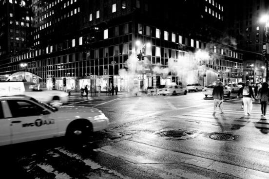 manhattan new york city by night