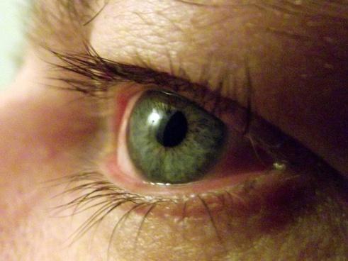 mans eyeball