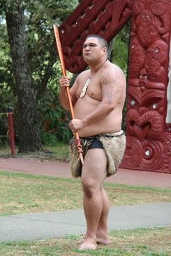 maori man spear