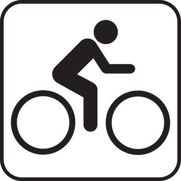 Map Symbols Bike clip art