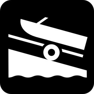 Map Symbols Boat Trailer clip art